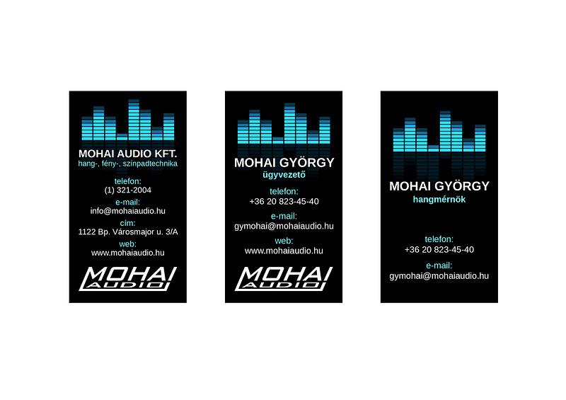 Mohai Audio névjegykártya