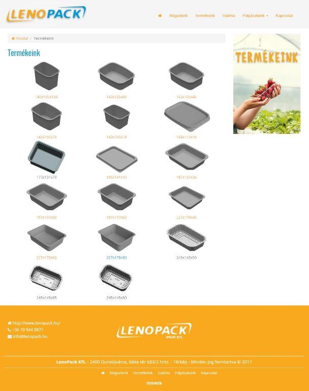 LenoPack honlap