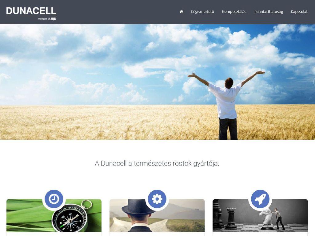 Dunacell céges weboldal
